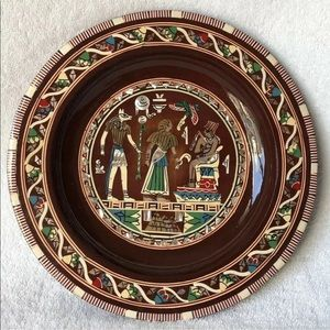 Decorative Plate Hand Painted Egyptian Scenery